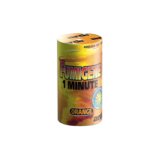 Fumigène en pot orange