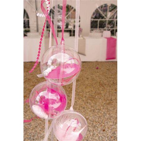 300 Boules Transparente 8cm à Garnir