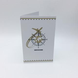 Invitation + enveloppe thème voyage