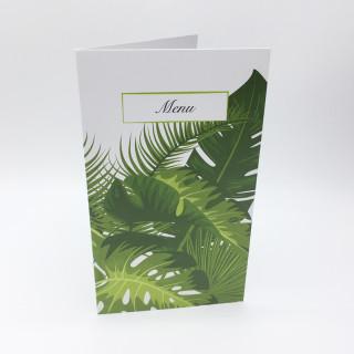 Menu thème tropical