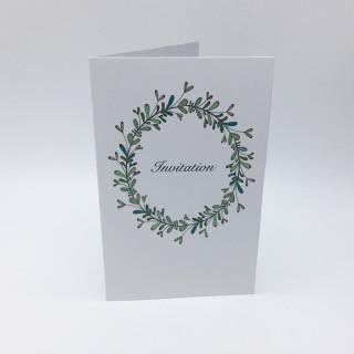 Invitation + enveloppe thème champêtre