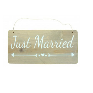 pancarte-mariage-bois-just-married