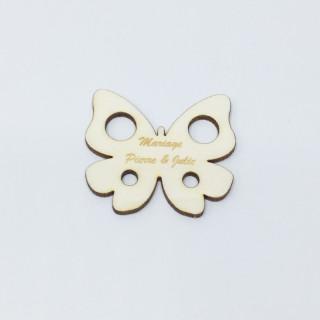 Confetti de table personnalisé papillon bois