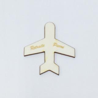 Confetti de table personnalisé avion bois