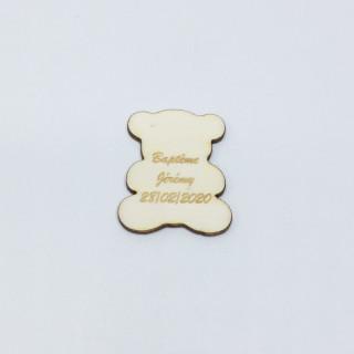 Confetti de table personnalisé ourson bois