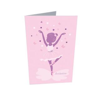 10 x Invitation + enveloppe danseuse