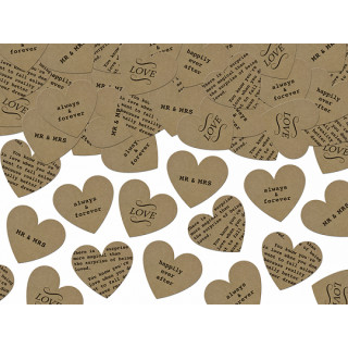 Confetti coeur kraft