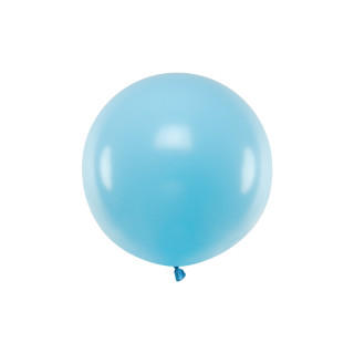 Ballon géant 60cm bleu pastel