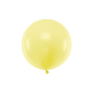 Ballon géant 60cm jaune pastel