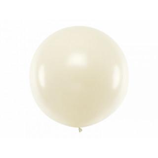 Ballon géant de Baudruche 1m Métallic perle