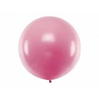 Ballon géant de Baudruche 1m Métallic rose