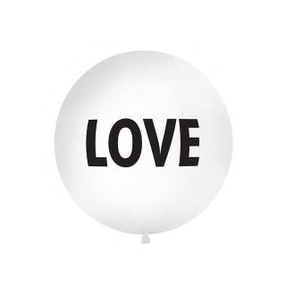 "Ballon géant baudruche ""Love"" 1 mètre - Blanc"