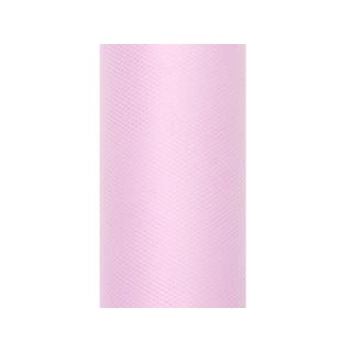 Rouleau Tulle rose clair 9 m x 8 cm