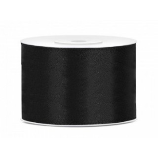 Ruban Satin Noir 5cm - 25m