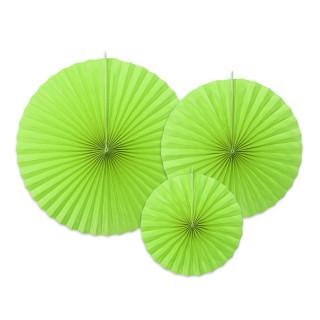 x 3 Eventails vert