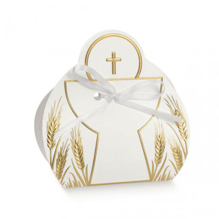 x1 Ballotin communion calice blanc et or