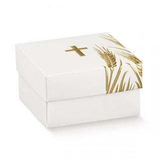 x1 Boite à dragées blanc et doré