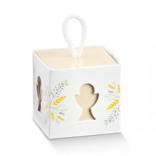x1 Boite à dragées cube blanc