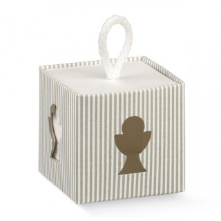 x1 Boite à dragées cube calice rayé