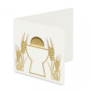 x10 Etiquettes calice blanche et dorée