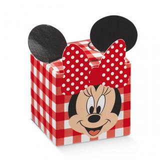 x1 Boite à dragées cube Minnie vichy