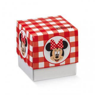 x1 Boite à dragées cube Minnie rouge