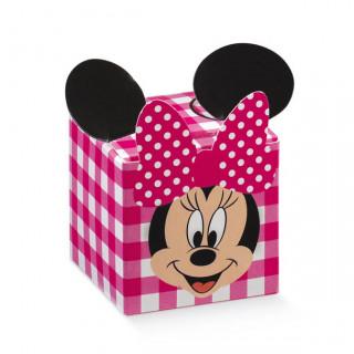 x1 Boite à dragées cube Minnie fuchsia