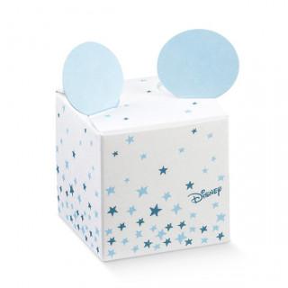 x1 Boite à dragées cube Mickey bleu