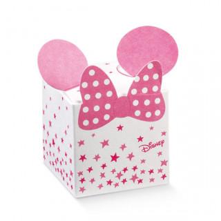 x1 Boite à dragées cube oreille Minnie rose