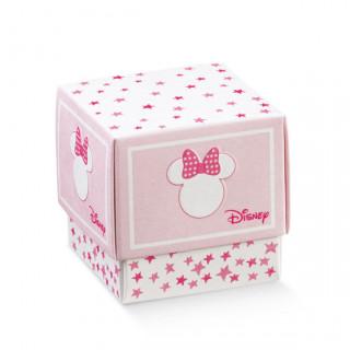 x1 Boite à dragées cube Minnie rose