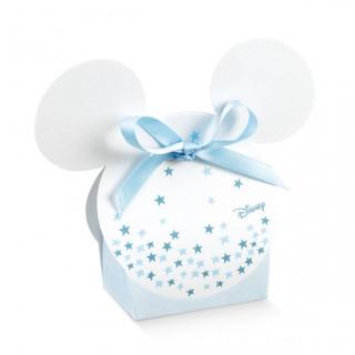 x1 Ballotin à dragées oreille Mickey bleu