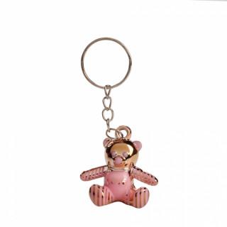 x1 Porte clé ourson rose