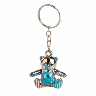 x1 Porte clé ourson bleu