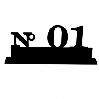Marque table de 1 à 10 noir
