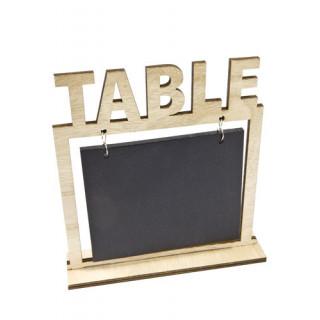 Marque table ardoise et bois