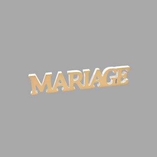 """Décoration """"Mariage"""" métalisée or"""