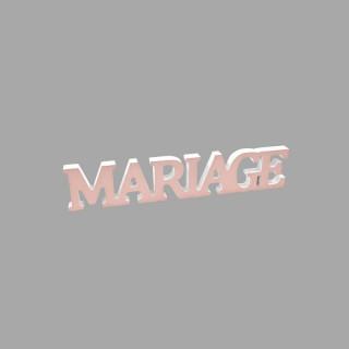 """Décoration """"Mariage"""" métalisée rose gold"""
