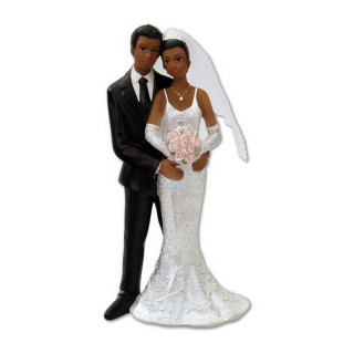 Figurine mariage matte de peau
