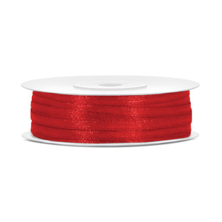 Ruban Satin Rouge 3mm - 50m