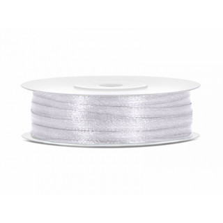 Ruban Satin Blanc 3mm - 50m