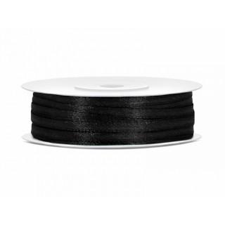 Ruban Satin Noir 3mm - 50m