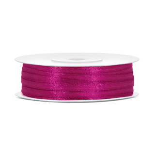 Ruban Satin Fuchsia 3mm - 50m