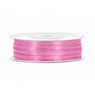 Ruban Satin Rose 3mm - 50m