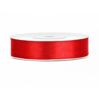 Ruban Satin rouge 12mm - 25m