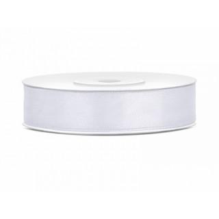 Ruban Satin blanc 12mm - 25m