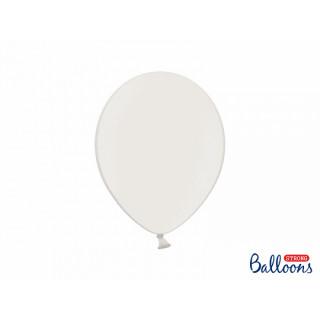 x10 Ballons metallic blanc