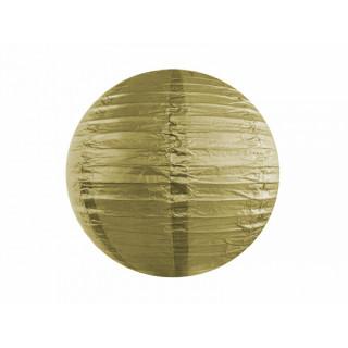 Lanterne Papier 20 cm - Or x1
