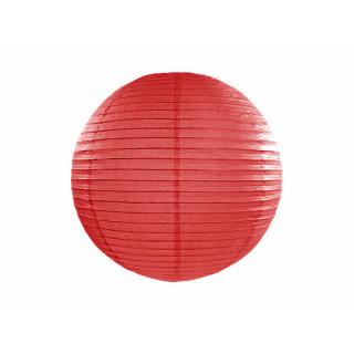 Lanterne Papier 20 cm - rouge x1