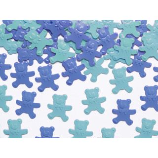 Confetti de table ourson bleu