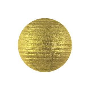 Lanterne Papier 25cm - Or pailleté